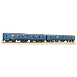 Bachmann 39-002 Coach Pack BR Mk2A BFK HST Barrier Vehicles Blue