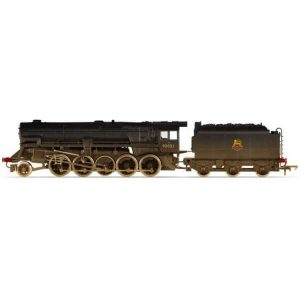 Hornby R3356 Class 9F Crosti Boiler 92021 BR Black with Early Crest Weathered RailRoad Range