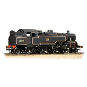 Bachmann 32-359A Class 4MT Tank 80092 BR Lined Black with Early Crest