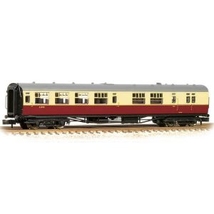Bachmann 34-727A Bulleid Brake Third Semi-Open (15″ Vents) BR Crimson and Cream