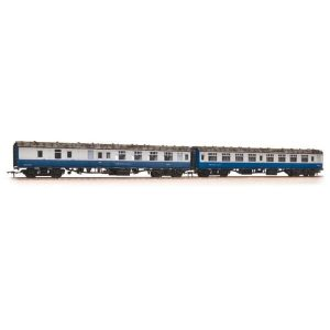 Bachmann 39-003 BR Mk1 Coach Pack SK and BSK BR Blue/Grey Network South East flashes with passengers