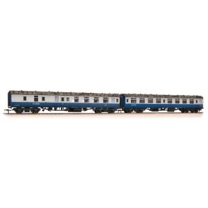 Bachmann 39-004 BR Mk1 Coach Pack SK and BSK BR Blue and Grey with Scotrail Branding and Passengers