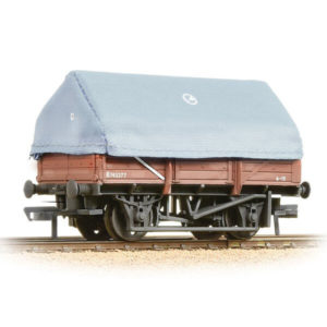 Bachmann 33-085A 5 Plank China Clay Wagon with Hood BR Bauxite Weathered