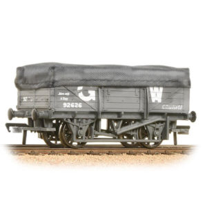 Bachmann 33-088 5 Plank China Clay Wagon with Flat Hood GWR Grey Weathered