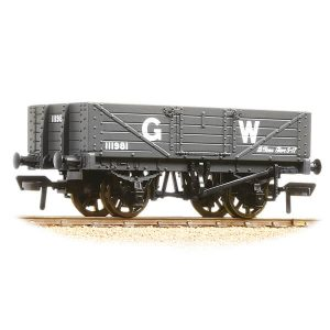 Bachmann 37-068 5 Plank Wagon Wooden Floor GWR Grey