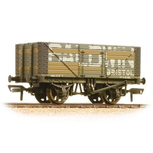 Bachmann 37-114 7 Plank End Door Wagon Baldwin Weathered