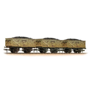 Bachmann 37-239 16T Steel Mineral Wagon Triple Pack BR Grey Weathered