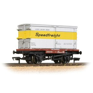 Bachmann 37-990 Conflat with BA Standard Container Speedfreight