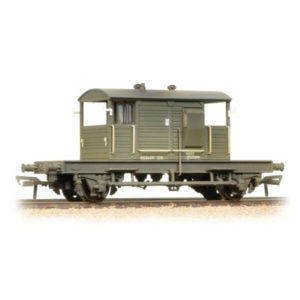 Bachmann 38-404A 25T Pill Box Brake Van BR Departmental Olive Weathered