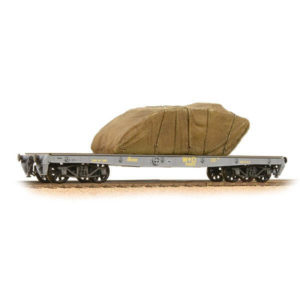 Bachmann 38-740 War Office 'Parrot' Bogie Wagon WD with Sheeted Tank Load