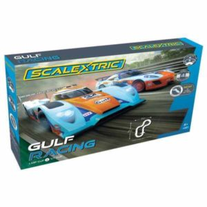 Scalextric C1384 Gulf Racing Set – Gulf LMP vs Gt Gulf