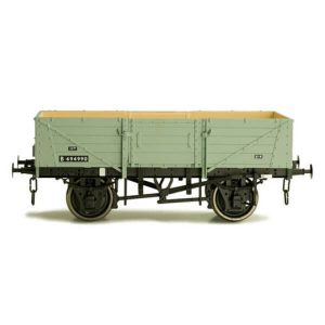 Dapol 7F-053-007 5 Plank Wagon Corrugated End BR Grey