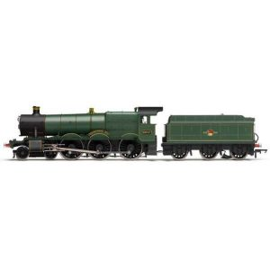 Hornby R3499 Class 49xx 6947 'Helmingham Hall' BR Green with Late Crest RailRoad Range