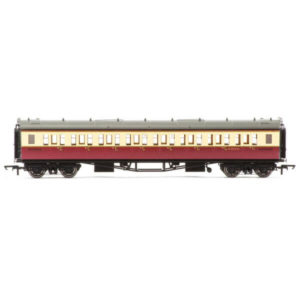 Hornby R4684A Collett Bow Ended Corridor Third BR Crimson and Cream