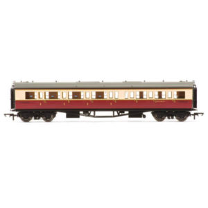 Hornby R4687A Collett Bow Ended Corridor Composite (LH) BR Crimson and Cream
