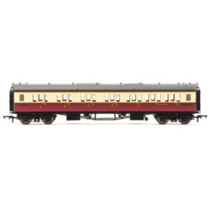 Hornby R4688A Collett Bow Ended Corridor Composite (RH) BR Crimson and Cream