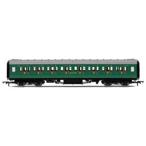 Hornby R4735 Maunsell Corridor Third Class 1216 'Set 328' SR Malachite Green