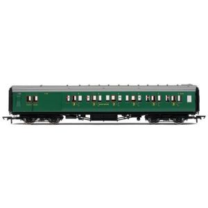 Hornby R4737 Maunsell Corridor Brake Third Class 'Set 328' SR Malachite Green