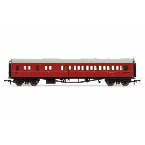 Hornby R4765 Collett Bow Ended Corridor Brake Third (LH) BR Maroon