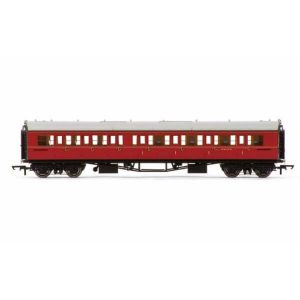 Hornby R4767 Collett Bow Ended Corridor Composite (RH) BR Maroon