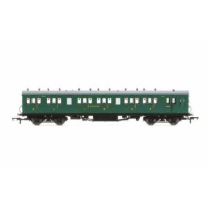 Hornby R4794 58′ Maunsell Rebuilt Six Compartment Brake Composite 'Set 44' SR Malachite Green