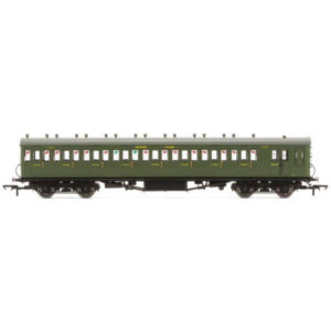 Hornby R4717A 58′ Maunsell Rebuilt Eight Compartment Brake Third 'Set 42' SR Olive Green