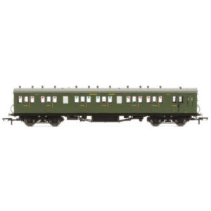 Hornby R4719A 58′ Maunsell Rebuilt Six Compartment Brake Composite 'Set 42' SR Olive Green
