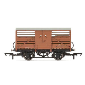 Hornby R6839A Dia. 1529 Cattle Wagon BR Bauxite