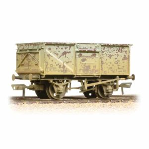 Bachmann 37-225H 16T Steel Mineral Wagon Top Flap Doors BR Grey Weathered
