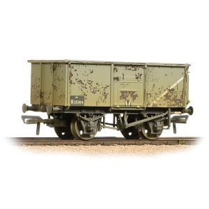 Bachmann 37-253B 16T Steel Mineral Wagon BR Grey Weathered