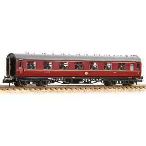 Graham Farish 374-840B Stanier Vestibule Third LMS Crimson Lake