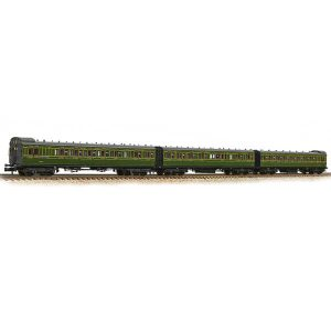 Graham Farish 374-911 SECR 60′ Birdcage Coach Triple Pack Southern Railway Olive Green