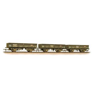 Bachmann 38-105 34T PNA Ballast Wagon Triple Pack Railtrack Weathered