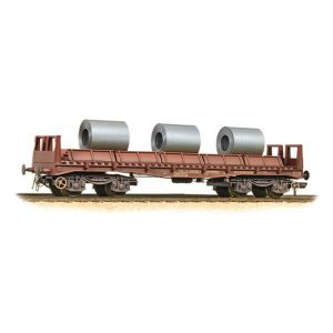 Bachmann 38-353 BAA Steel Carrier Wagon with Steel Coils BR Brown Weathered