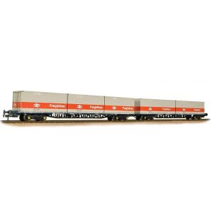 Bachmann 38-625 FGA Container Flat Twin Pack Freightliner