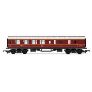 Hornby R4389 Stanier Corridor Brake Third LMS Crimson RailRoad Range