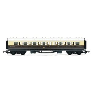 Hornby R4523 Collett Corridor Composite GWR Chocolate and Cream RailRoad Range