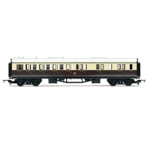 Hornby R4524 Collett Corridor Brake Third GWR Chocolate and Cream RailRoad Range