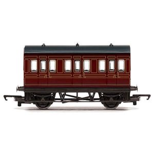 Hornby R4671 Four Wheel Coach LMS Crimson RailRoad Range