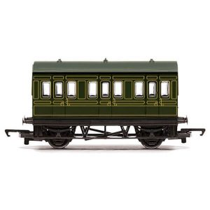 Hornby R4673 Four Wheel Coach SR Lined Green RailRoad Range