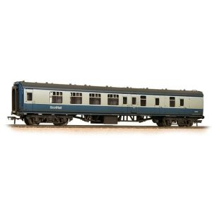 Graham Farish 374-197 BR Mk1 BSK Brake Second Corridor BR Blue and Grey with ScotRail Branding Weathered