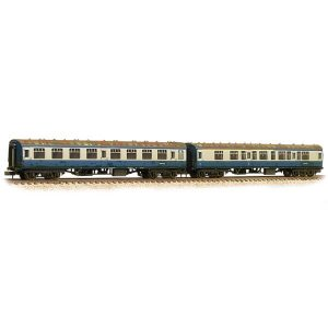 Graham Farish 374-990 BR Mk1 Coach Pack CK and SK 'Works Test Train' BR Blue and Grey Weathered
