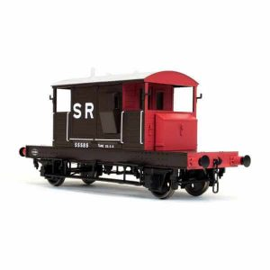 Dapol 7F-100-005 SR 25T Pill Box Brake Van SR Red Brown