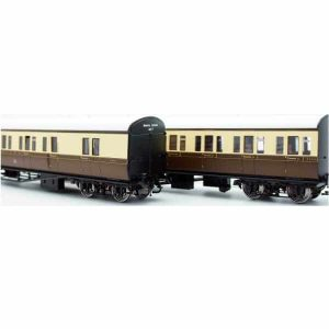 "Lionheart Dapol LHT-608 GWR 'B' Set Coaches ""Bristol Division Set 17"" GWR Chocolate and Cream"
