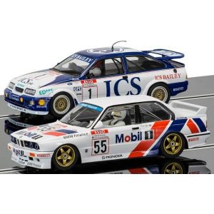 Scalextric C3693A Legends Touring Car Twin Pack – Ford Sierra RS500 and BMW E30 – Ltd. Edition