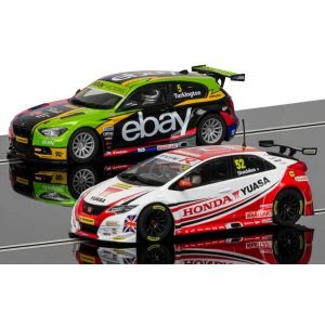 Scalextric C3694A BTCC Champions Twin Pack – BMW 125 Series 1 and Honda Civic