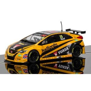 Scalextric C3861 Honda Civic Type R No.25 Matt Neal BTCC 2016