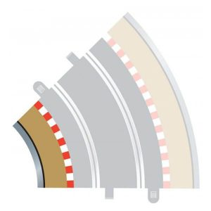 Scalextric C8225 Radius 2 Curve Inner Borders 45 degree x 4 Pcs