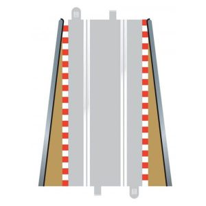 Scalextric C8233 Lead In / Lead Out Borders 350mm x 2 Pcs