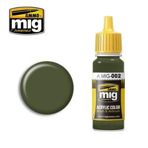 Mig Acrylic MIG002 RAL 6003 Olivgrun Opt.2